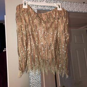Free People sequin skirt